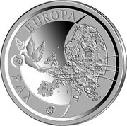 Belgium 10 Euro 70 Years of Peace in Europe 2015 Proof KM# 349 PAX EUROPA 70 coin reverse