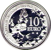 Belgium 10 Euro 75th Anniversary of Heizel Stadium 2005 Proof KM# 251 BELGIQUE BELGIE BELGIEN 10 EURO 2005 LL coin obverse