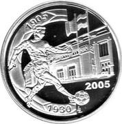 Belgium 10 Euro 75th Anniversary of Heizel Stadium 2005 Proof KM# 251 1905 1930 2005 LL coin reverse