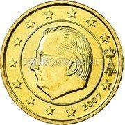 Belgium 10 Euro Cent 2007 Proof KM# 242 European Union Issues coin obverse