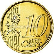 Belgium 10 Euro Cent 2007 Proof KM# 242 European Union Issues coin reverse