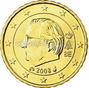 Belgium 10 Euro Cent 2008 KM# 277 European Union Issues coin obverse
