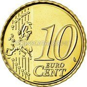 Belgium 10 Euro Cent 2008 KM# 277 European Union Issues coin reverse
