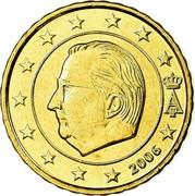 Belgium 10 Euro Cent Albert II - 1st map - 1st type - 1st portrait 2006 Proof KM# 227 A II 2004 coin obverse