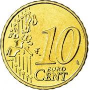 Belgium 10 Euro Cent Albert II - 1st map - 1st type - 1st portrait 2006 Proof KM# 227 10 EURO CENT LL coin reverse
