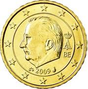 Belgium 10 Euro Cent (Albert II - 2nd map - 2nd type - 1st portrait) KM# 298 A II BE 2009 coin obverse