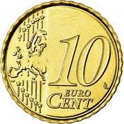 Belgium 10 Euro Cent (Albert II - 2nd map - 2nd type - 1st portrait) KM# 298 10 LL EURO CENT coin reverse