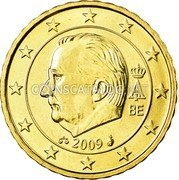 Belgium 10 Euro Cent KM# 298 Country Standart Coinage A II BE 2009 coin obverse