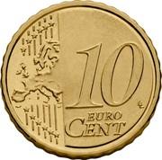 Belgium 10 Euro Cent Philippe 2014 KM# 334 10 EURO CENT LL coin reverse