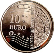 Belgium 10 Euro European Union Enlargement 2004 Proof KM# 234 10 EURO BELGIE BELGIQUE BELGIEN coin obverse