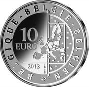 Belgium 10 Euro Hugo Claus 2013 Proof KM# 324 BELGIQUE BELGIE BELGIEN 10 EURO 2013 LL QP coin obverse