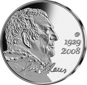 Belgium 10 Euro Hugo Claus 2013 Proof KM# 324 1929 2008 HUGOCLAUS coin reverse