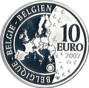 Belgium 10 Euro International Polar Year 2007 Proof KM# 263 BELGIQUE BELGIE BELGIEN 10 EURO 2007 QP coin obverse