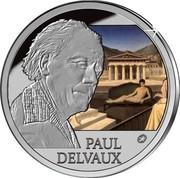 Belgium 10 Euro Paul Delvaux - 30 years St. Idesbald Museum 2012 Proof KM# 318 PAUL DELVAUX coin reverse