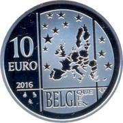 Belgium 10 Euro Rio Olympic Games - Team Belgium 2016 Proof KM# 360 10 EURO 2016 LL BELGI QUE E EN QP coin obverse