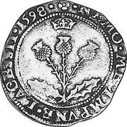 UK 10 Shillings 1601 KM# A5 Scotland coin reverse
