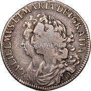 UK 10 Shillings 1690 KM# 124 Scotland coin obverse