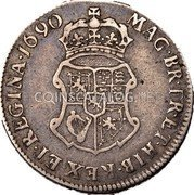 UK 10 Shillings 1690 KM# 124 Scotland coin reverse