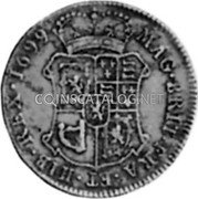 UK 10 Shillings 1699 KM# 141 Scotland coin reverse
