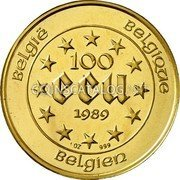 Belgium 100 ECU 1989 KM# 175 European Currency Units coin reverse