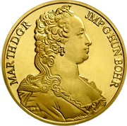 Belgium 100 ECU Maria Theresia 1989 KM# 175 MARTHDGR JMP G HUN BOH R coin obverse