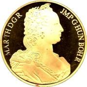 Belgium 100 ECU Maria Theresia. Piedfort 1989 qp Proof KM# P12 MAR TH D G R JMP G HUN BOH R coin obverse