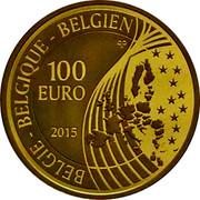 Belgium 100 Euro 55 Birthday of King Philippe 2015 Proof KM# 356 BELGIQUE BELGIE BELGIEN Q P 100 EURO 2015 coin obverse