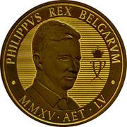 Belgium 100 Euro 55 Birthday of King Philippe 2015 Proof KM# 356 PHILIPPVS REX BELGARVM FP MMXV AET LV coin reverse