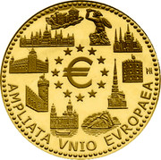 Belgium 100 Euro European Union Enlargement 2004 KM# 239 € AMPLIATA VNIO EVROPAEA coin reverse
