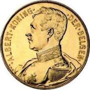 Belgium 100 Francs Albert I. Pattern 1912 ultra rare KM# Pn193 ALBERT ONING DER BELGEN coin obverse
