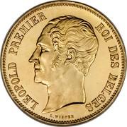 Belgium 100 Francs (Duke of Brabant's Wedding) X# M3.1 LEOPOLD PREMIER ROI DES BELGES L. WIENER coin obverse