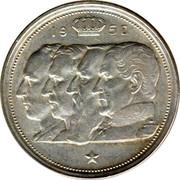 Belgium 100 Francs Leopold III 1950 KM# 138.1 19 50 RAU coin obverse