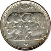 Belgium 100 Francs (Leopold III) KM# 138.2 19 52 RAU coin obverse