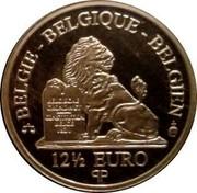 Belgium 12 1/2 Euro 175th Anniversary Saxe-Coburg-Gotha 2007 Proof KM# 265 BELGIE BELGIQUE BELGIEN BELGISCHE GRONDWET CONSTITUTION BELGE 1831 12 1/2 EURO QP coin obverse