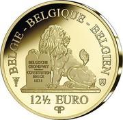 Belgium 12 1/2 Euro 30 Years of the Fall of the Berlin Wall 2019 Proof BELGIE - BELGIQUE - BELGIEN BELGISCHE GRONDWET CONSTITUTION BELGE 1831 12 1/2 EURO Q P coin reverse