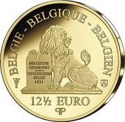 Belgium 12 1/2 Euro Jane Brigode 2020 Proof BELGIE - BELGIQUE - BELGIEN BELGISCHE GRONDWET CONSTITUTION BELGE - 1831 12 1/2 EURO Q P coin reverse