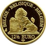 Belgium 12 1/2 Euro King Albert II 2011 Proof KM# 316 BELGIE BELGIQUE BELGIEN BELGISCHE GRONDWET CONSTITUTION BELGE 1831 12 1/2 EURO Q P coin obverse