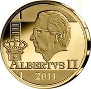 Belgium 12 1/2 Euro King Albert II 2011 Proof KM# 316 ALBERTVS II 2011 coin reverse