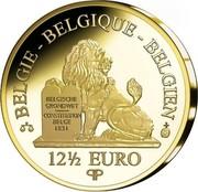 Belgium 12 1/2 Euro King Baudouin I 2010 Proof KM# 293 BELGIE BELGIQUE BELGIEN BELGISCHE GRONDWET CONSTITUTION BELGE 1831 12 1/2 EURO Q P coin obverse