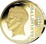 Belgium 12 1/2 Euro King Baudouin I 2010 Proof KM# 293 BALDVINVS 2010 coin reverse
