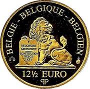 Belgium 12 1/2 Euro King Leopold I 2006 Proof KM# 259 BELGIQUE BELGIE BELGIEN BELGISCHE GRONDWET CONSTITUTION BELGE 1831 12 1/2 EURO QP coin obverse