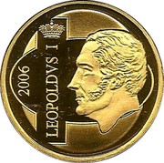 Belgium 12 1/2 Euro King Leopold I 2006 Proof KM# 259 LEOPOLDVS I 2006 coin reverse