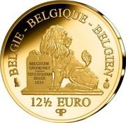 Belgium 12 1/2 Euro Queen Astrid 2014 Proof KM# 344 BELGIQUE BELGIE BELGIEN BELGISCHE GRONDWET CONSTITUTION BELGE 1831 12 1/2 EURO Q P coin obverse
