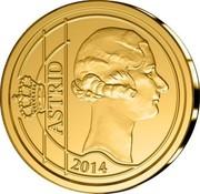 Belgium 12 1/2 Euro Queen Astrid 2014 Proof KM# 344 ASTRID 2014 coin reverse