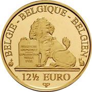 Belgium 12 1/2 Euro Queen Fabiola 2013 Proof KM# 328 BELGIE BELGIQUE BELGIEN BELGISCHE GRONDWET CONSTITUTION BELGE 1831 12 1/2 EURO Q P coin obverse