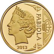Belgium 12 1/2 Euro Queen Fabiola 2013 Proof KM# 328 FABIOLA 2013 coin reverse
