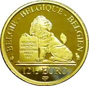 Belgium 12 1/2 Euro Queen Mathilde 2015 Proof KM# 354 BELGIQUE BELGIE BELGIEN BELGISCHE GRONDWET CONSTITUTION BELGE 1831 12 1/2 EURO Q P coin obverse