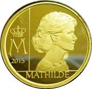 Belgium 12 1/2 Euro Queen Mathilde 2015 Proof KM# 354 M 2015 MATHILDE coin reverse