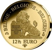 Belgium 12 1/2 Euro Queen Paola - Dynasty Anniversary 2012 Proof KM# 321 BELGIE BELGIQUE BELGIEN BELGISCHE GRONDWET CONSTITUTION BELGE 1831 12 1/2 EURO Q P coin obverse