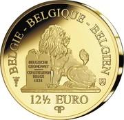 Belgium 12,5 Euro Reine Louise-Marie d'Orleans 2018 BELGISCHE GRONDWET CONSTITUTION BELGE 1831 12 1/2 EURO BELGIE - BELGIQUE - BELGIEN coin reverse